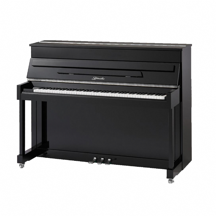 Ritmuller 110cm Traditional Upright Piano Black with Brass NEW